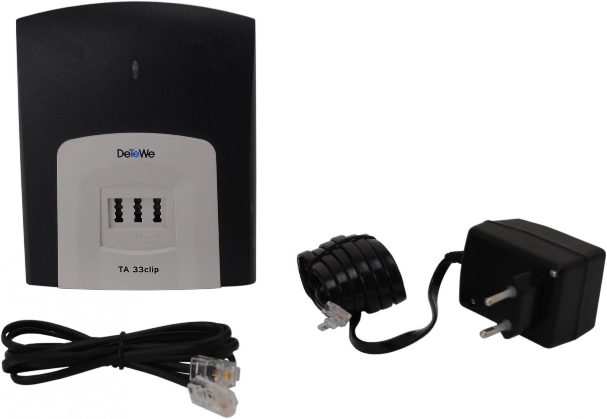 detewe ta 33clip ta33 clip a b ab wandler isdn analog adapter terminaladapter ebay. Black Bedroom Furniture Sets. Home Design Ideas